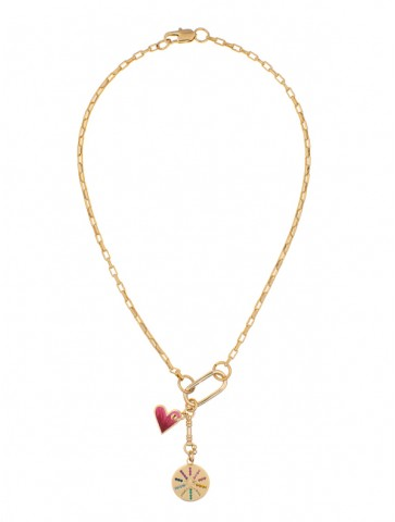 Violette multicharms necklace