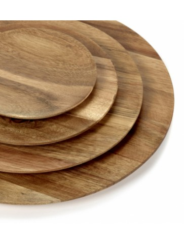 Acacia wood plate Dunes