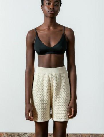 Lace shorts Ivory