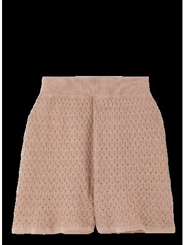 Lace shorts almond