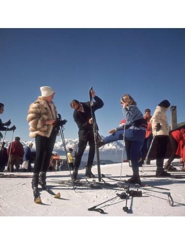Skieurs à Verbier, Slim Aarons