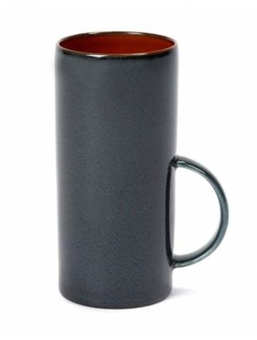 Tea cup Rust/Dark blue